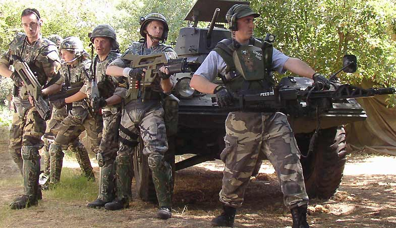 COLONIAL MARINES ON PATROL SUPPORTED BY FERRET SCOUT APC & The Imperial Armory- Other Costumes